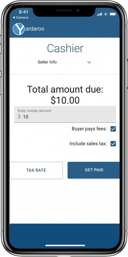 Cashier mode extends touch free payments to your family, friends and employees.  Allow everyone helping at your sale to accept credit cards with the click of a button.