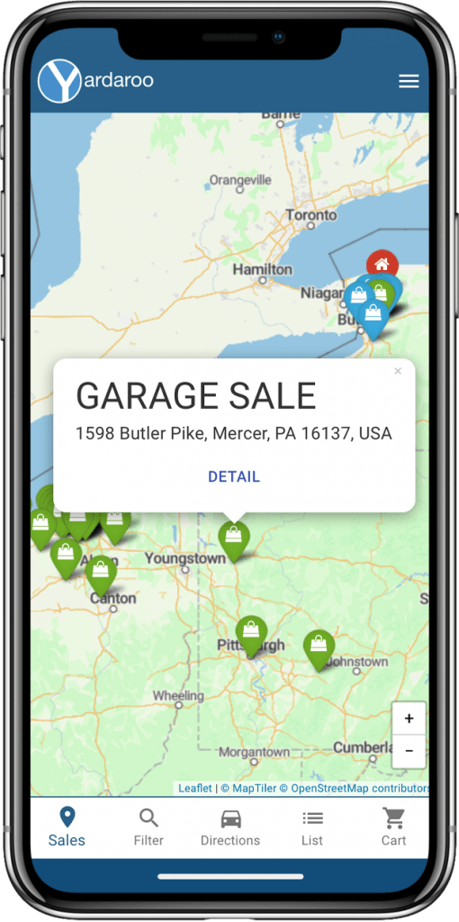 Yardaroo is the ultimate garage and estate sale finder app